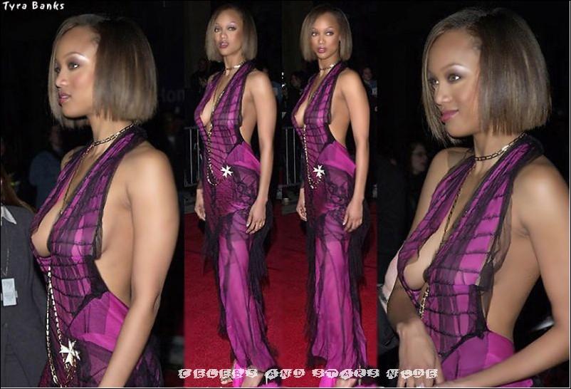 Tyra Banks See Through Dress